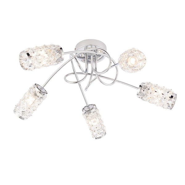 Colby 5lt Semi Flush Ceiling Light by Endon Lighting