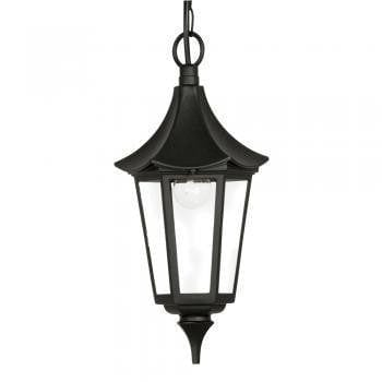 Oaks Witton Black Finish Outdoor Pendant Light 811 CH BK by Oaks Lighting