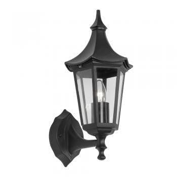 Oaks Witton Black Finish Outdoor Uplighter Wall Light 811 UP BK by Oaks Lighting