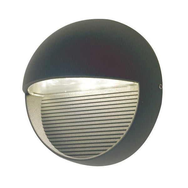Elstead Radius Round Graphite LED Outdoor Wall Light