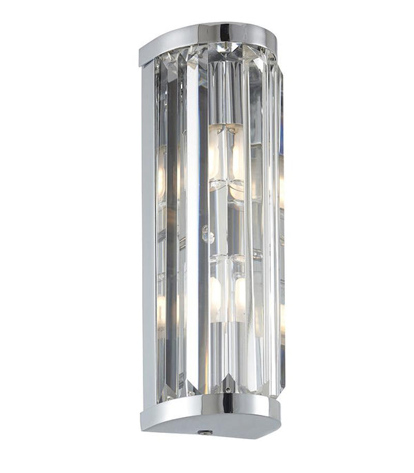 Crystal 2lt Wall Light by Endon Lighting