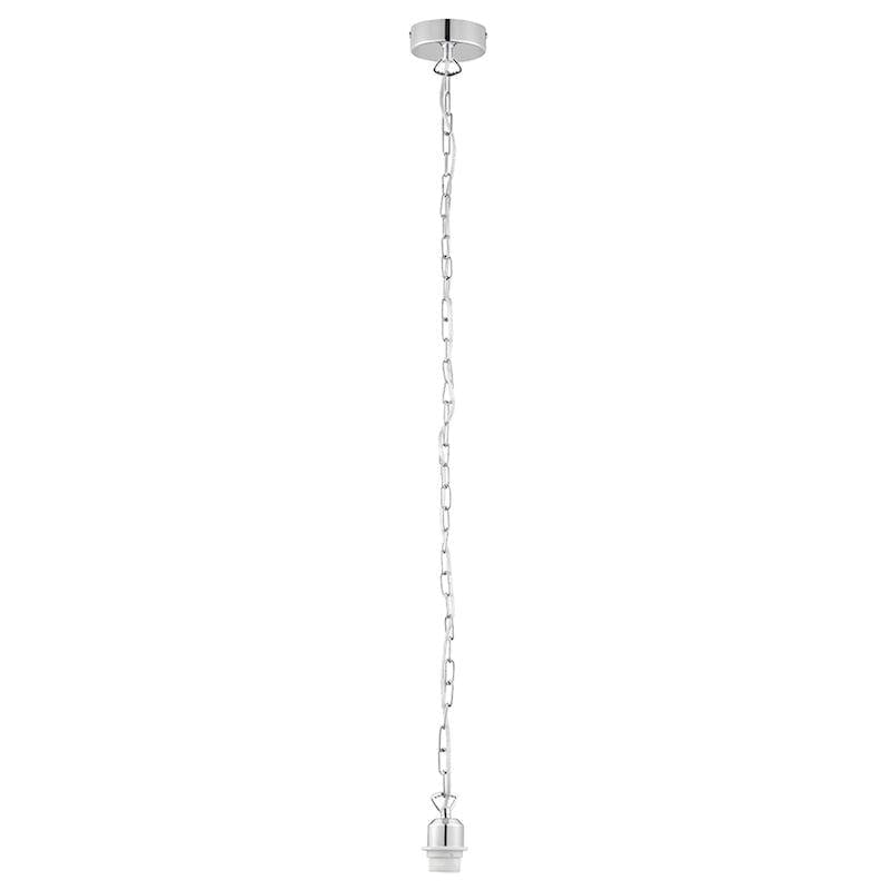Chrome Cable set 1lt Ceiling Pendant Light by Endon Lighting