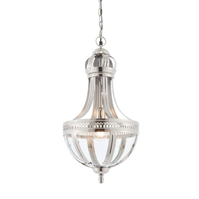 Vienna 1lt Large Ceiling Pendant Light by Endon Lighting