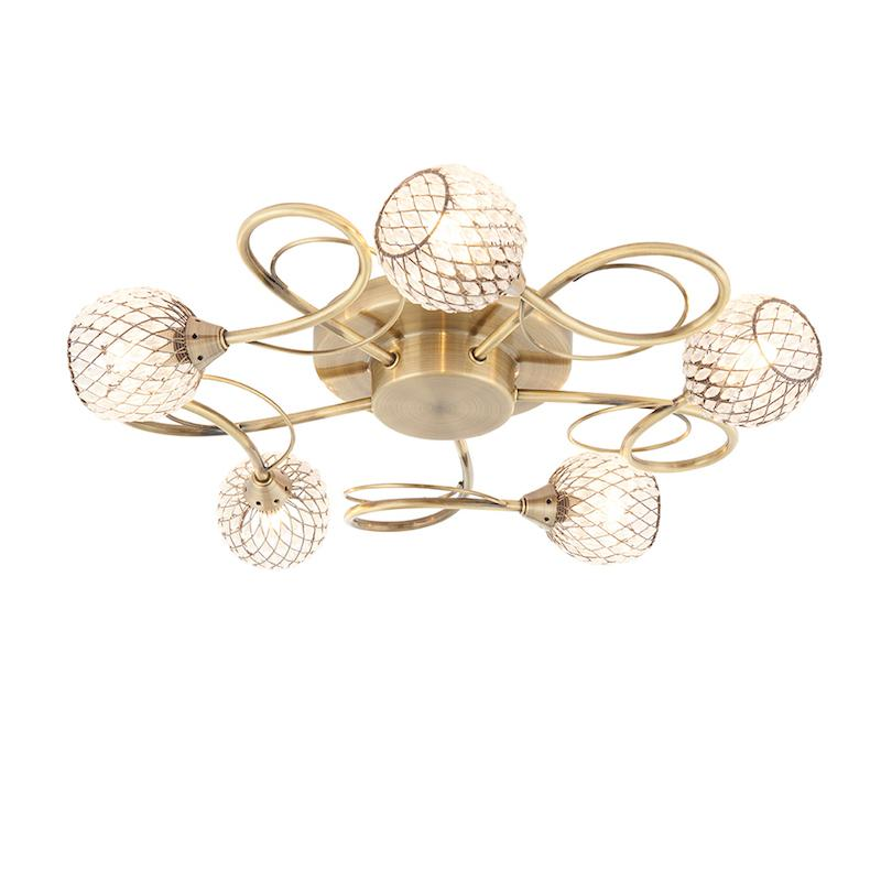 Aherne 5lt Semi flush Ceiling Light by Endon Lighting