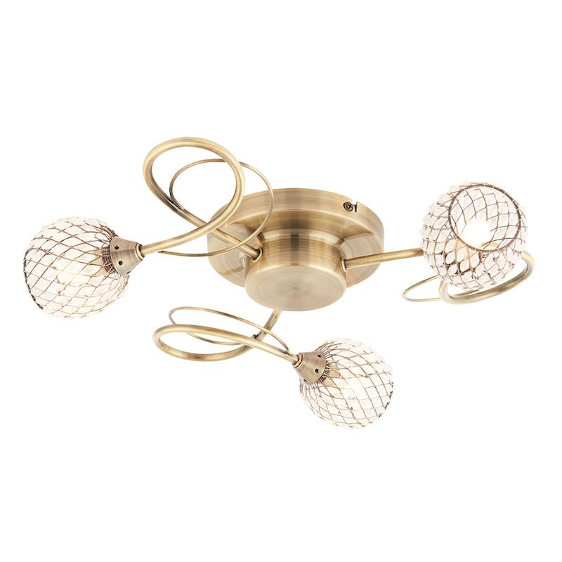 Aherne 3lt Semi Flush Ceiling Light by Endon Lighting