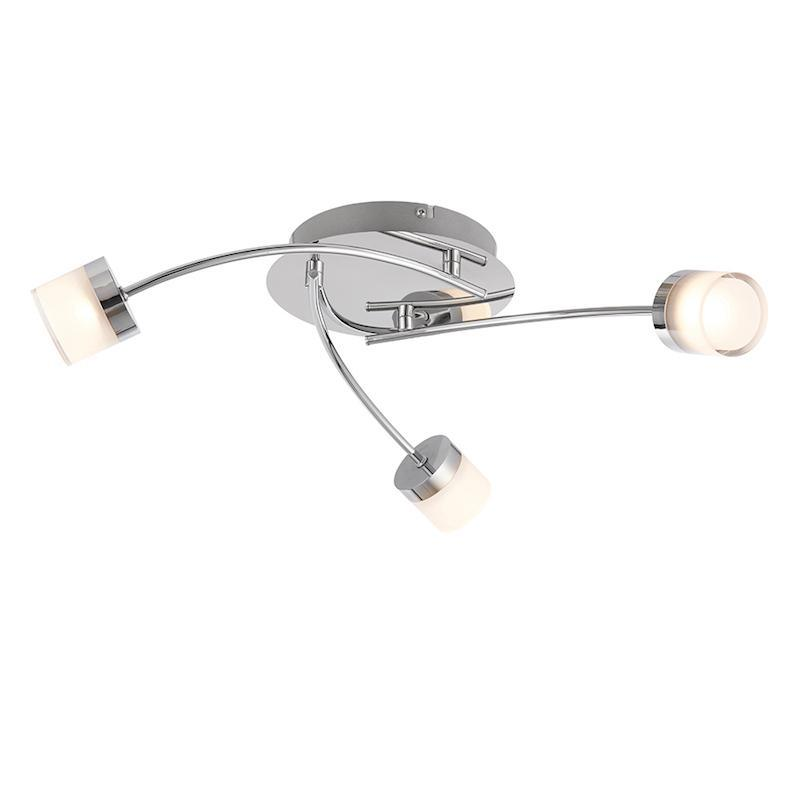 Ikos 3lt Semi Flush Ceiling Light by Endon Lighting
