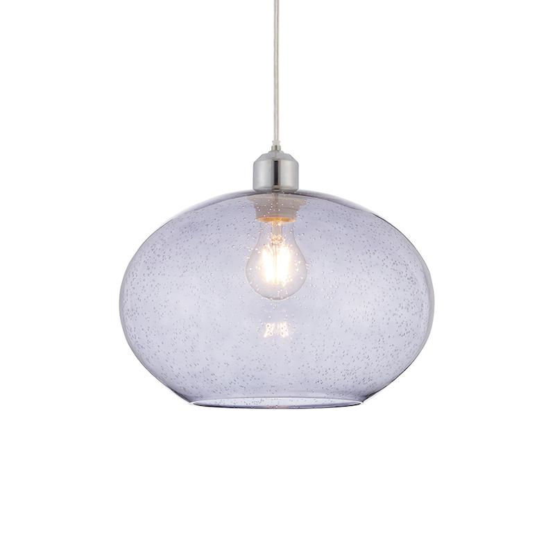Dimitri 1lt Grey Ceiling Pendant Light by Endon Lighting