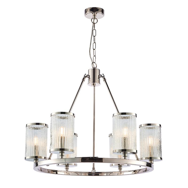 Easton 6lt Ceiling Pendant Light by Endon Lighting