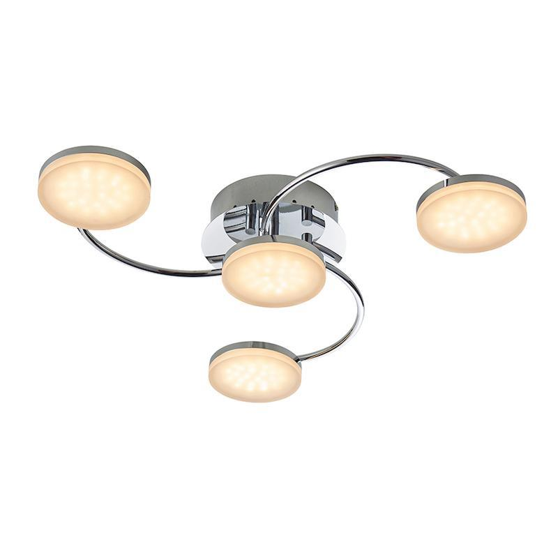 Helsinki 4lt Semi Flush Ceiling Light by Endon Lighting
