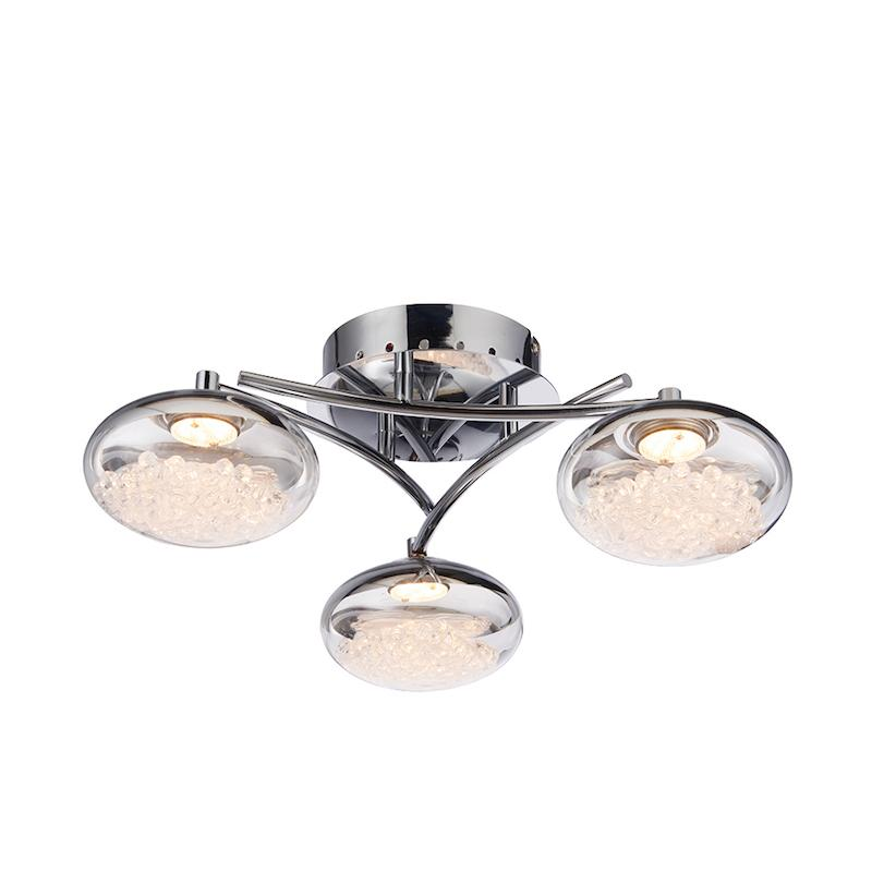Oria 3lt Semi Flush Ceiling Light by Endon Lighting