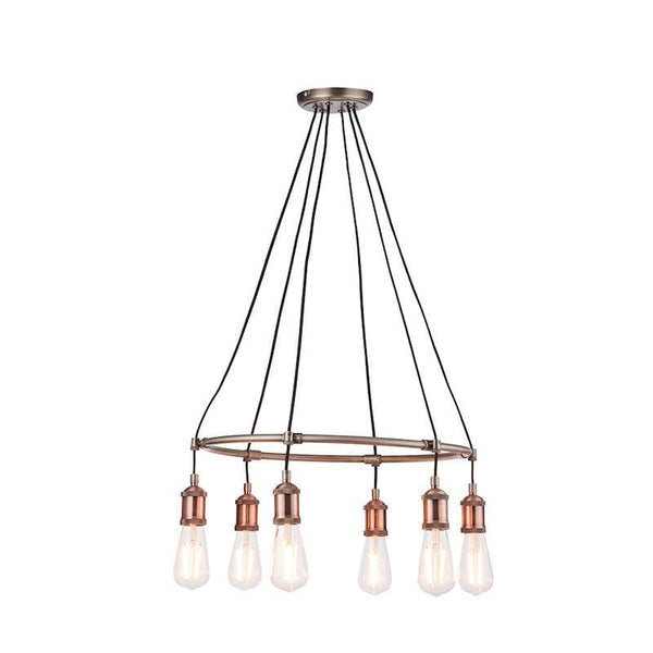 Hal 6lt Ceiling Pendant Light by Endon Lighting