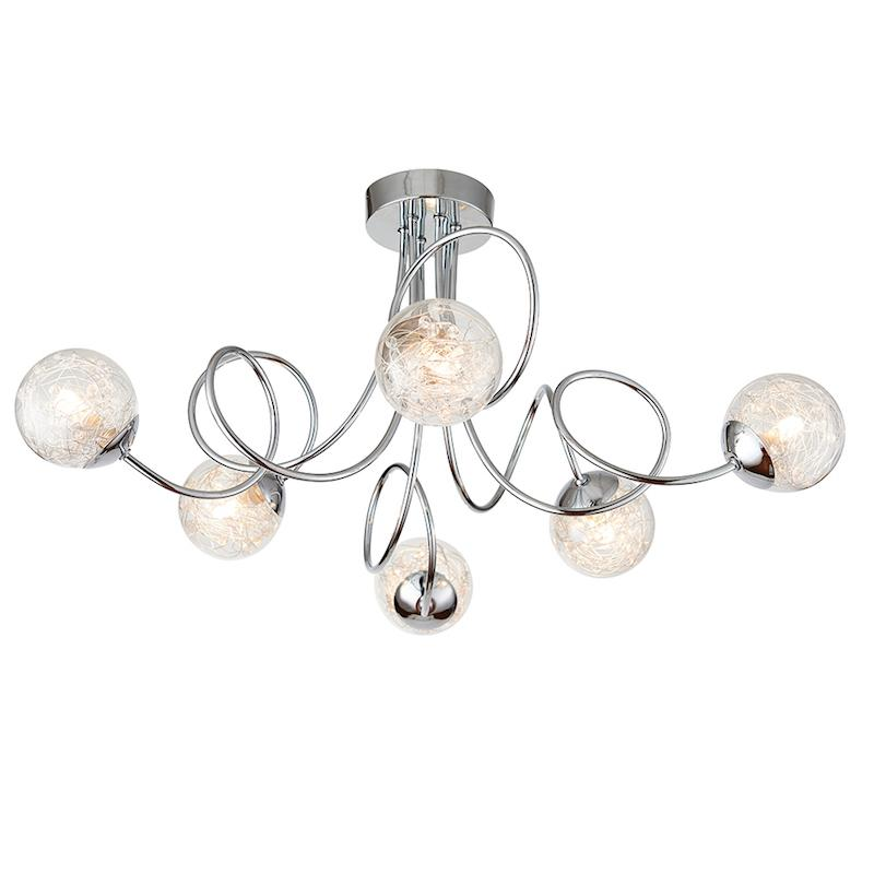 Auria 6lt Semi Flush by Endon Lighting