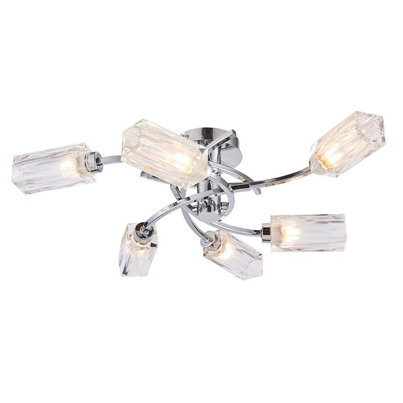 Zeus 6lt Semi Flush Ceiling Light by Endon Lighting