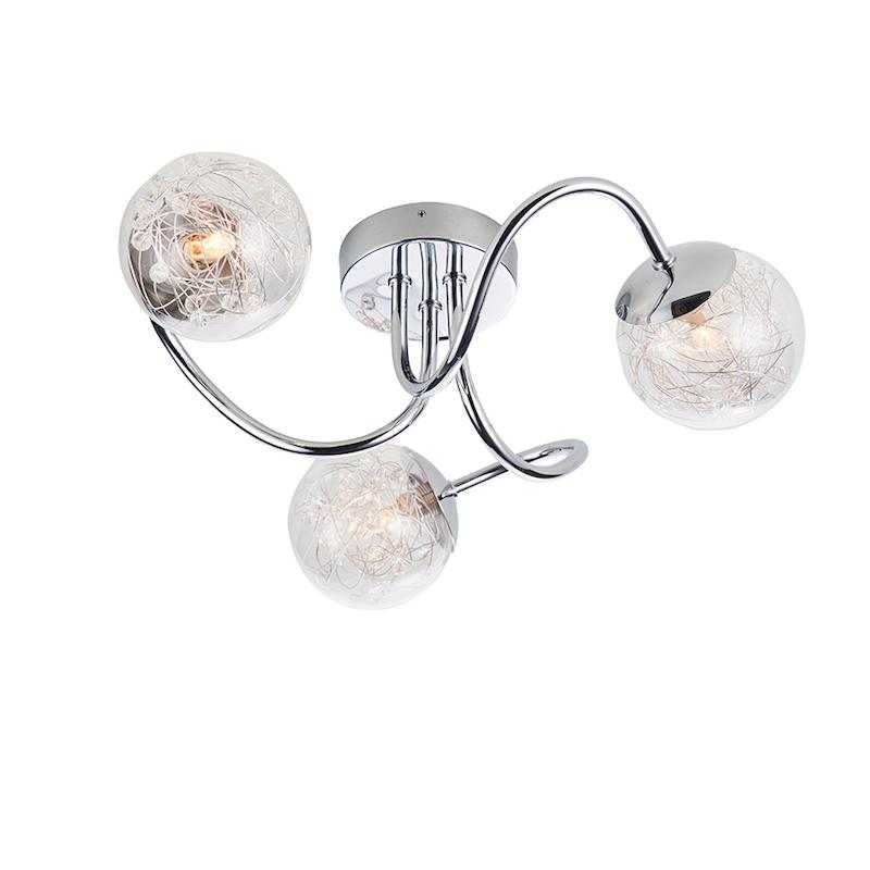 Auria 3lt Semi Flush by Endon Lighting