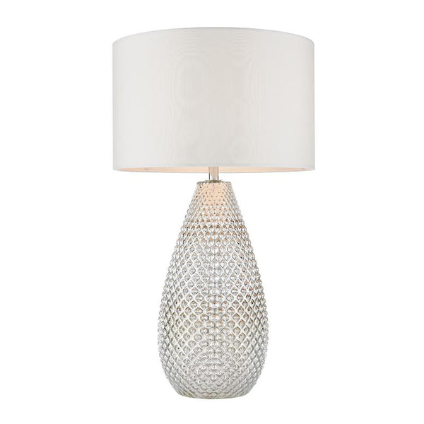 Livia 1lt Mercury Table Lamp by Endon Lighting