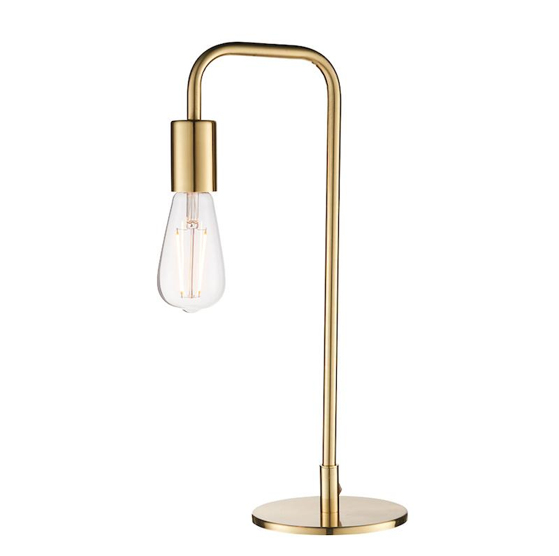 Rubens 1lt Brass Table Lamp by Endon Lighting