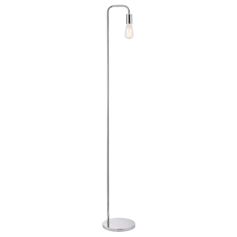 Rubens 1lt Chrome Floor Lamp by Endon Lighting