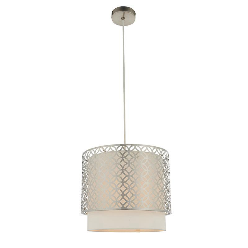Gilli 1lt Nickel Ceiling Pendant Light by Endon Lighting