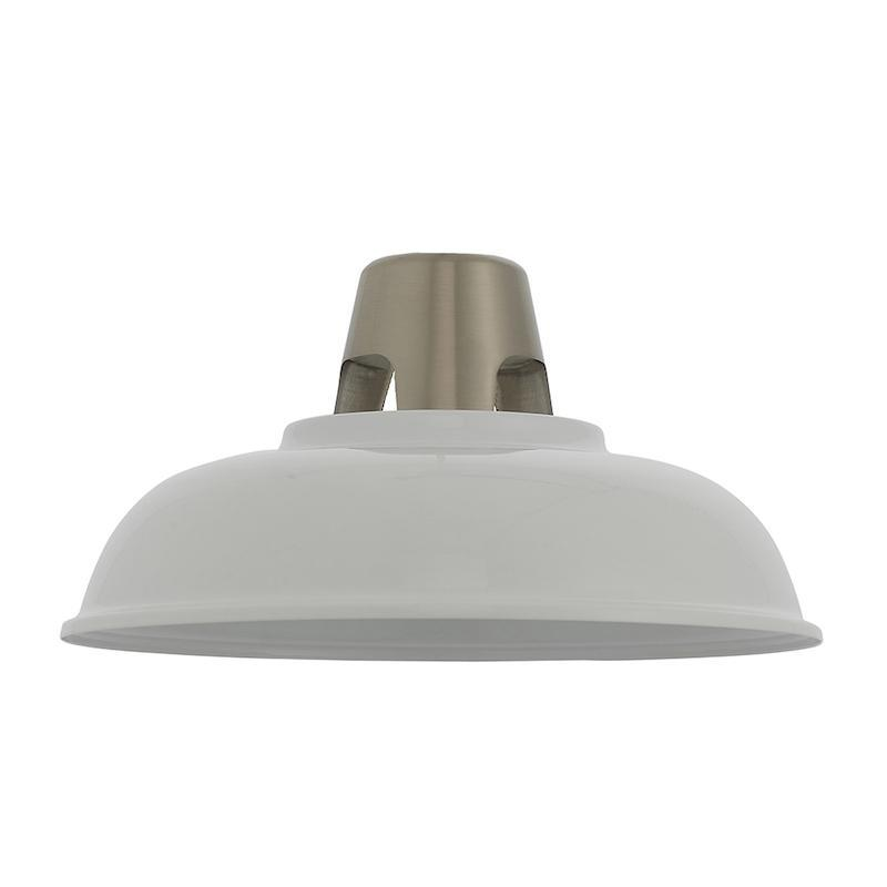 Henley 1lt White Ceiling Pendant Light easyfit by Endon Lighting