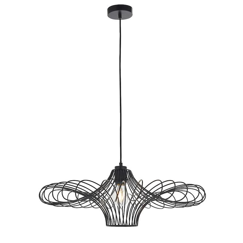 Curl 1lt Ceiling Pendant Light easyfit by Endon Lighting