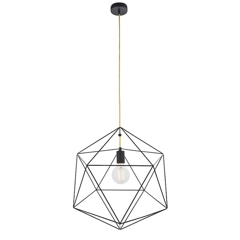 Icosa 1lt Ceiling Pendant Light by Endon Lighting