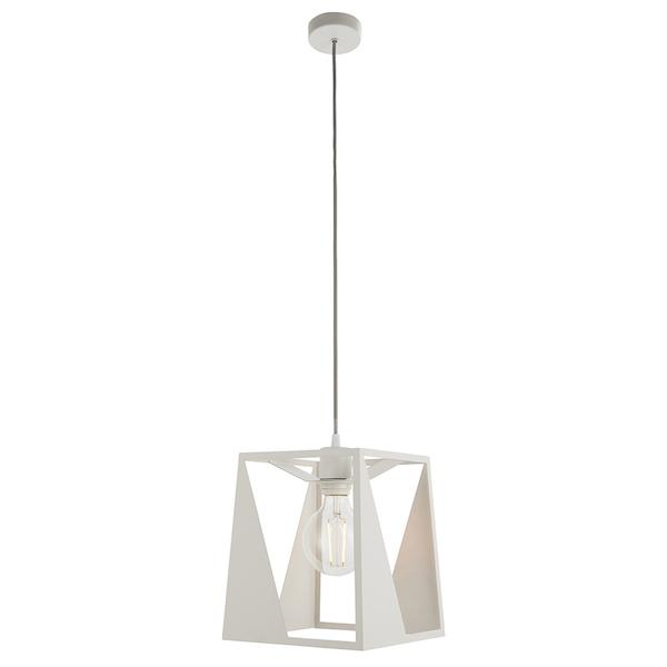 Kolo 1lt White Ceiling Pendant Light by Endon Lighting