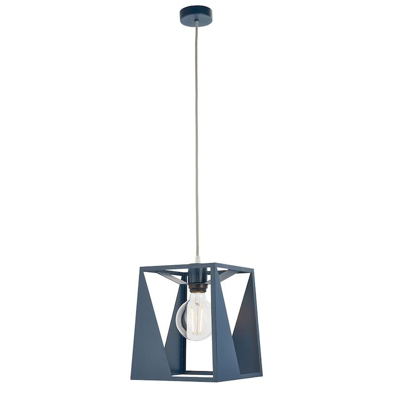 Kolo 1lt Blue Ceiling Pendant Light by Endon Lighting