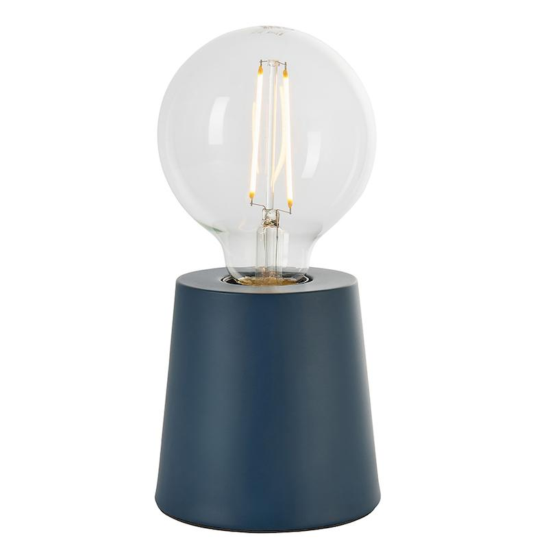 Mono 1lt Blue Table Lamp by Endon Lighting