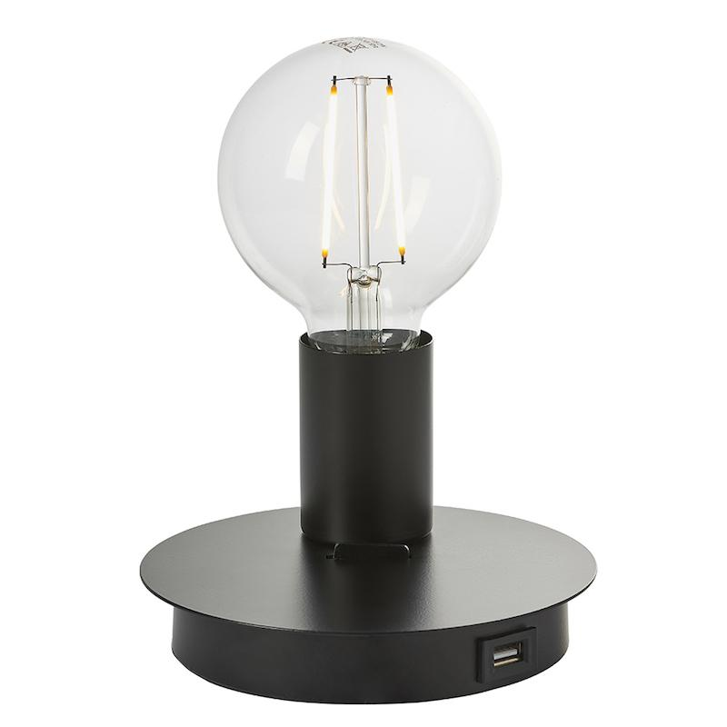 Joshua 1lt Black Table Lamp by Endon Lighting