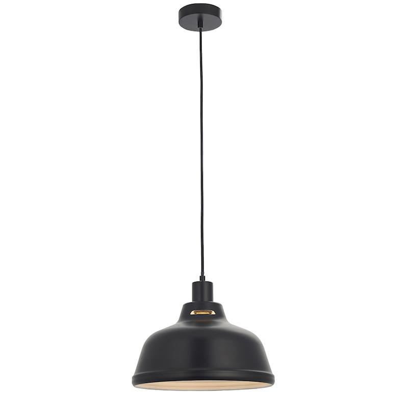 Mono 1lt Black Ceiling Pendant Light easyfit by Endon Lighting