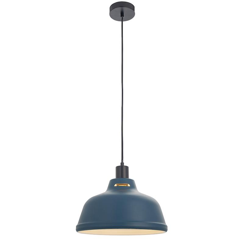 Mono 1lt Blue Ceiling Pendant Light easyfit by Endon Lighting