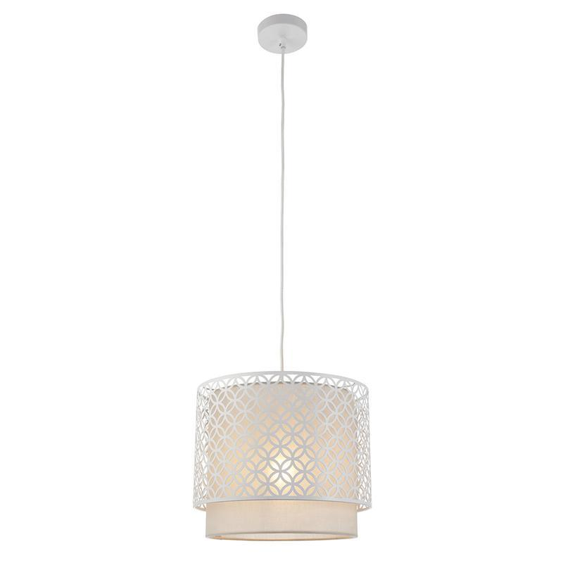 Gilli 1lt White Ceiling Pendant Light by Endon Lighting