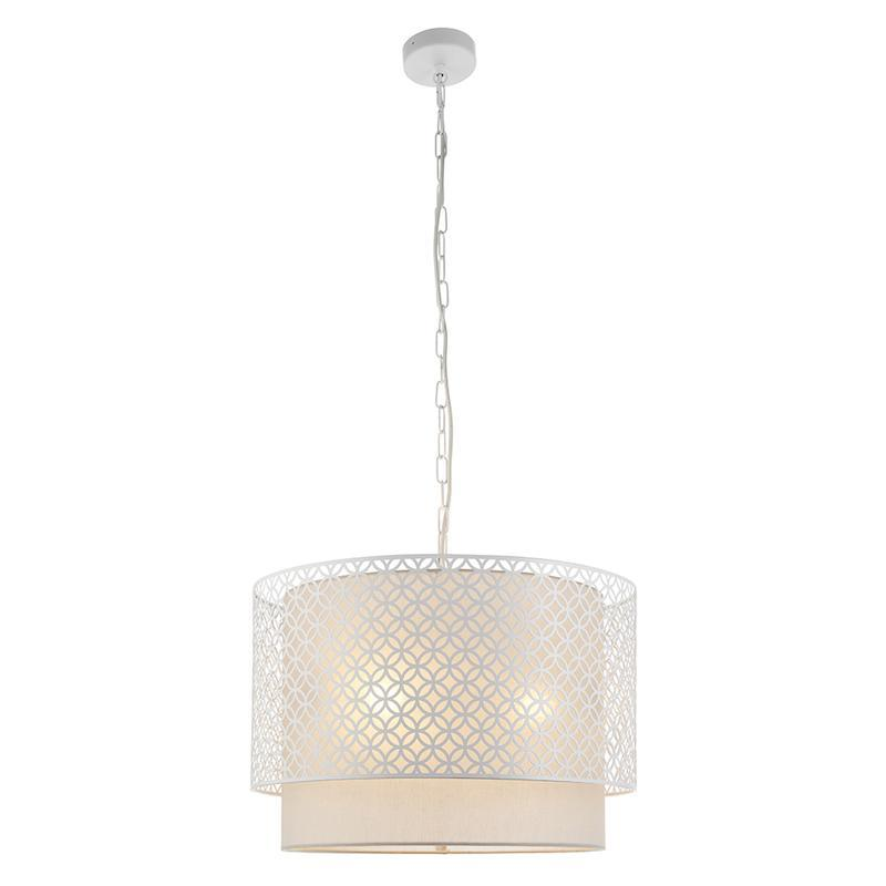 Gilli 3lt White Ceiling Pendant Light by Endon Lighting