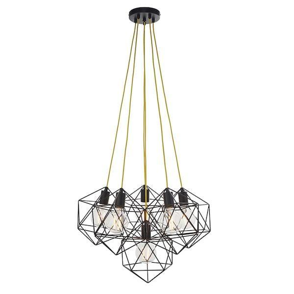 Icosa 6lt Ceiling Pendant Light by Endon Lighting