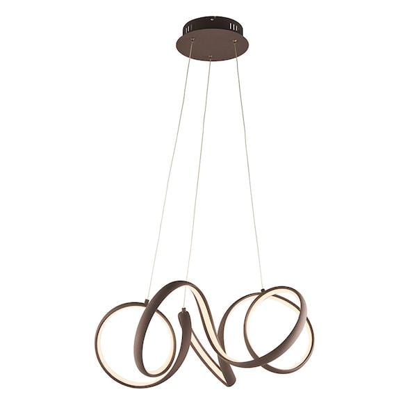 Synergy 1lt Coffee Ceiling Pendant Light by Endon Lighting