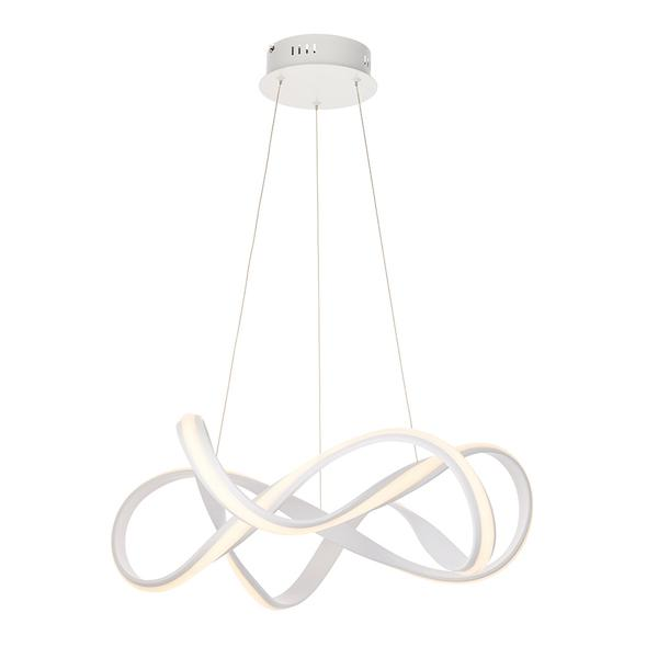 Synergy 1lt White Ceiling Pendant Light by Endon Lighting