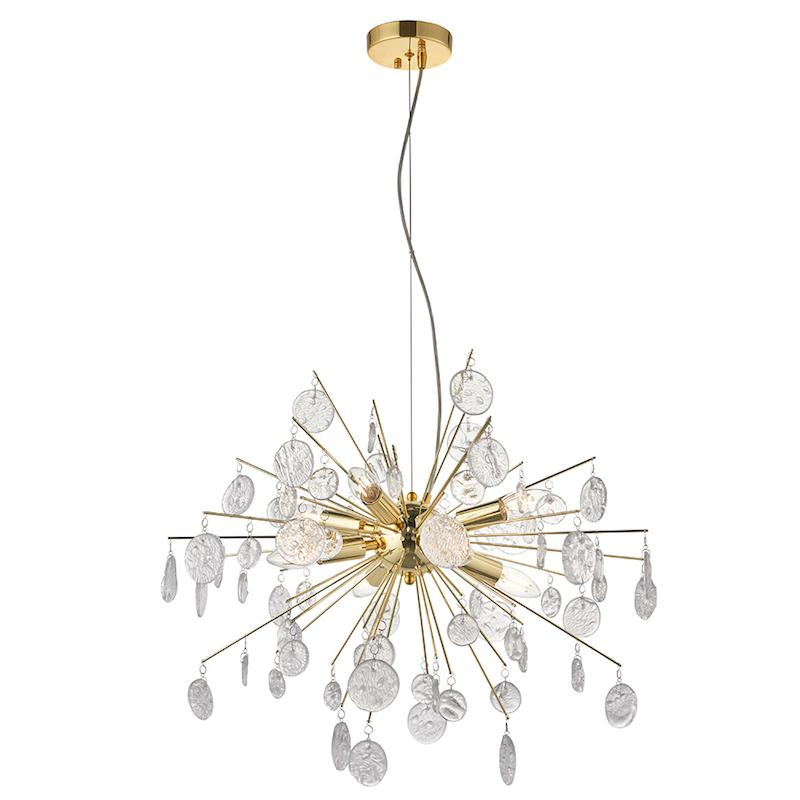 Calla 8lt Gold  Ceiling Pendant Light by Endon Lighting