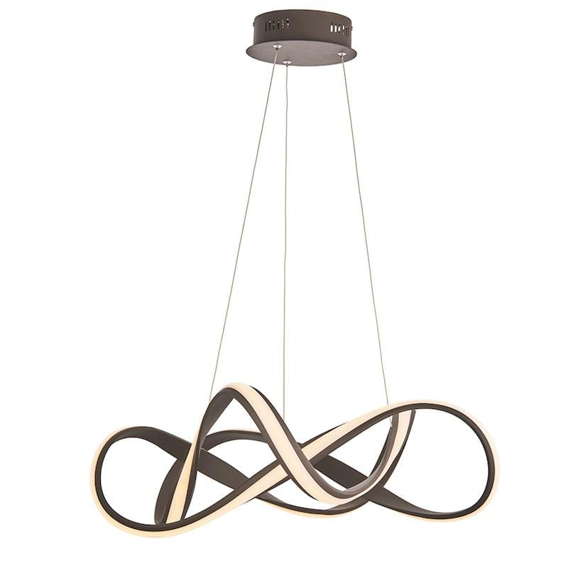 Synergy 1lt Large Coffee Ceiling Pendant Light by Endon Lighting