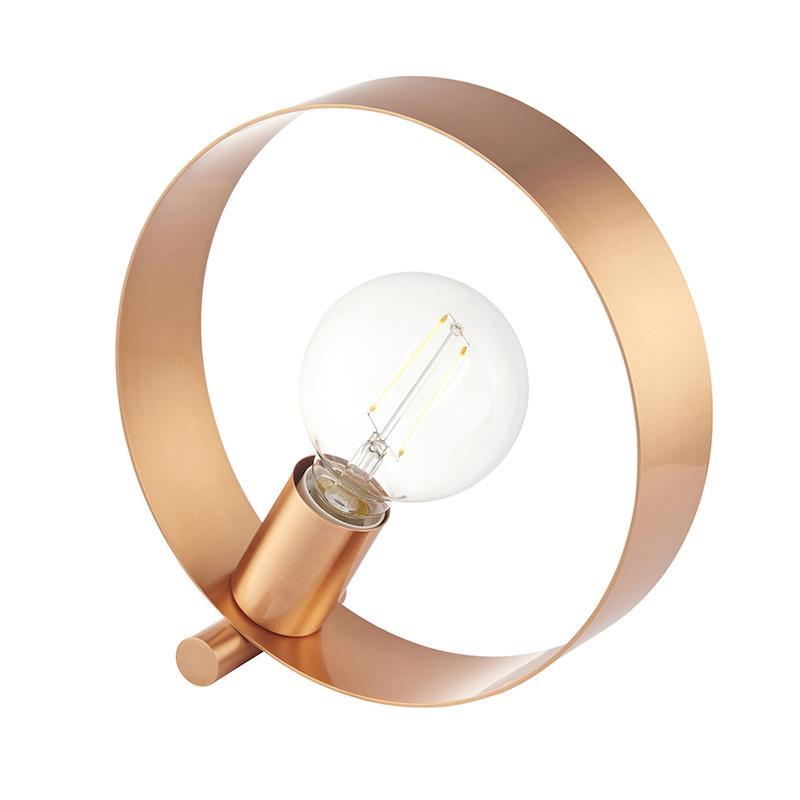 Hoop 1lt Copper Table Lamp by Endon Lighting