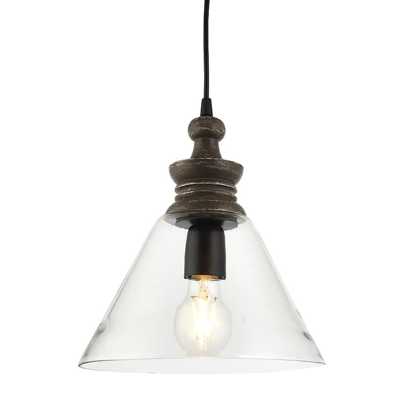 Kerala 1lt Medium Ceiling Pendant Light by Endon Lighting