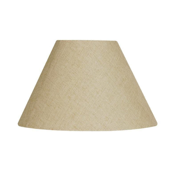 Lamp Shade - Linen Coolies Buttermilk Rolled Edge Hard Lining L501/14 BM