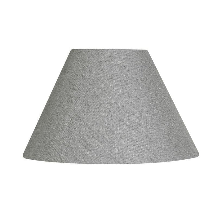 Lamp Shade - Linen Coolies Earl Grey Rolled Edge Hard Lining L501/12 EG