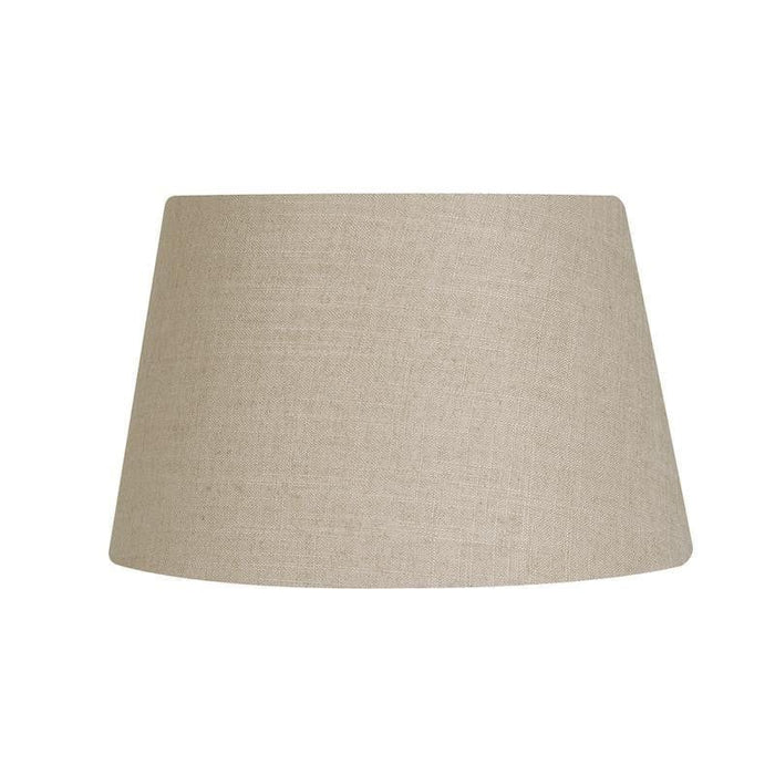 Lamp Shade - Linen Drum Bracken Rolled Edge Hard Lining L901/20 BR