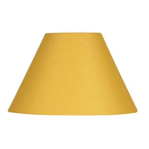 c250699fcf3 Lamp Shade - Cotton Coolies Mustard Rolled Edge Hard Lining S501 5 MS
