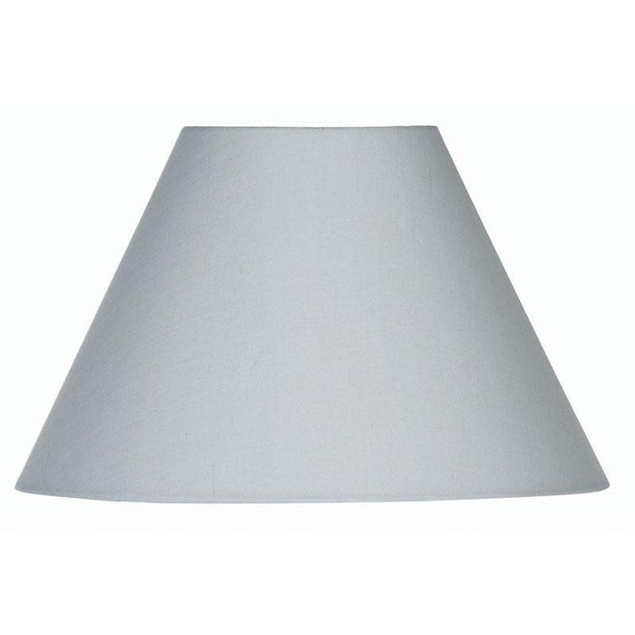 Lamp Shade - Cotton Coolies Soft Grey Rolled Edge Hard Lining S501/20 SG