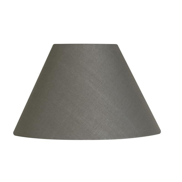 Lamp Shade - Cotton Coolies Slate Rolled Edge Hard Lining S501/20 SLATE