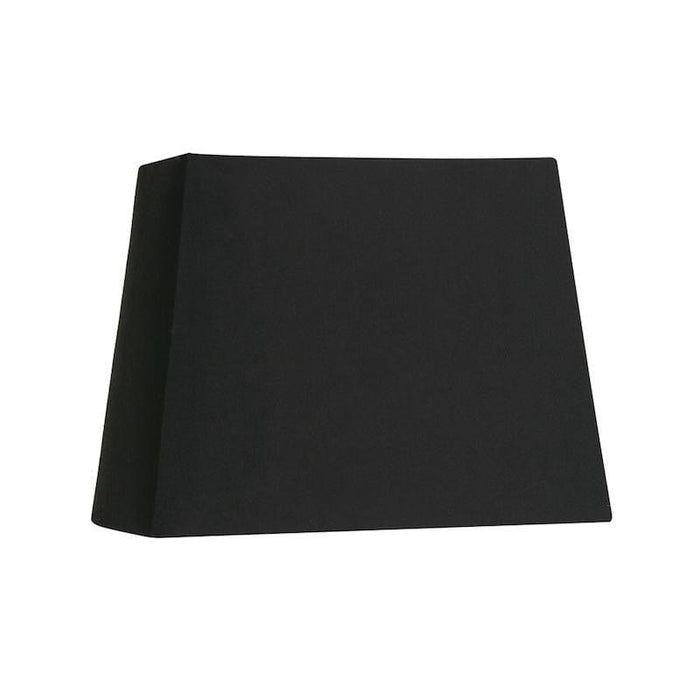 Lamp Shade - Rectangle Black Hard Lining S515/12 BK
