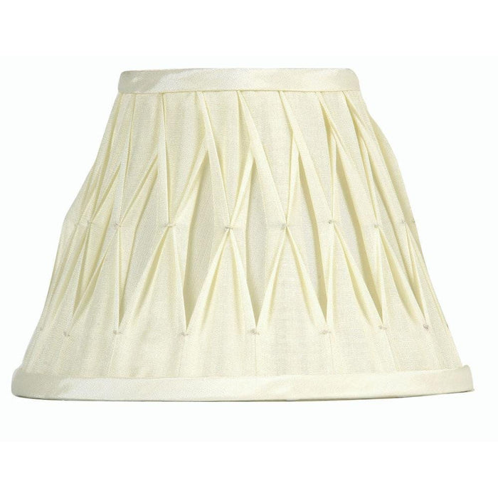 Lamp Shade - Pinched Pleat Ivory  Faux Silk Lined S601/12 IV