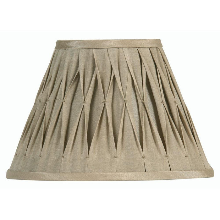 Lamp Shade - Pinched Pleat Sand Faux Silk Lined S601/12 SA