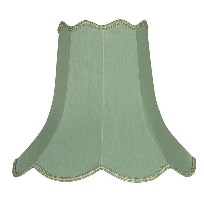 Lamp Shade - Scalloped Sage Faux Silk Lined S701/10 SE